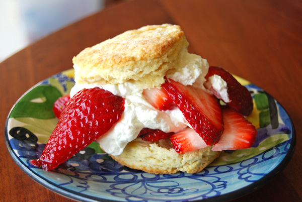 Post image for Strawberry Shortcakes with Meyer Lemon Buttermilk Biscuits