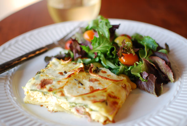 Post image for Frittata with Prosciutto, Potatoes & Thyme