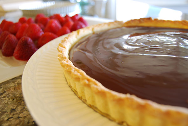 Chocolate Ganache Tart with Fresh Strawberries; or How to Make Sweet ...