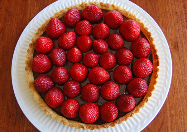 Post image for Chocolate Ganache Tart with Fresh Strawberries; or How to Make Sweet Tart Dough