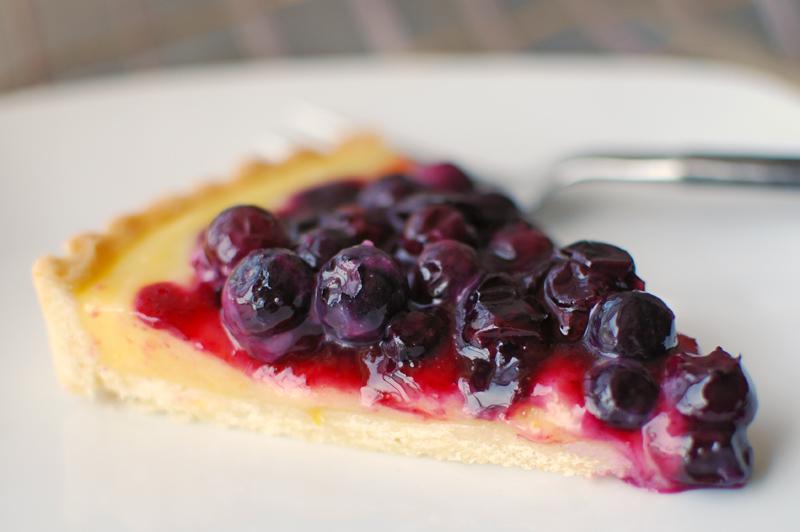 Blueberry and Lemon Curd Tart — Former Chef