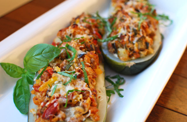 Post image for Stuffed Zucchini with Italian Sausage