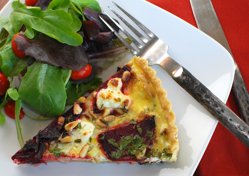 Post image for Beet, Leek and Goat Cheese Tart