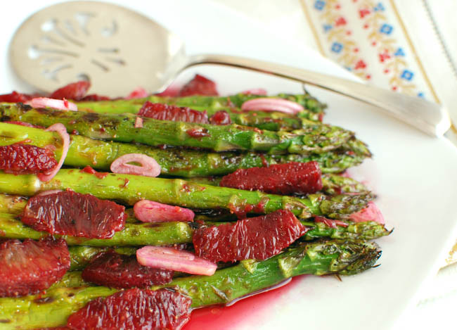 Asparagus and Blood Orange Vinaigrette