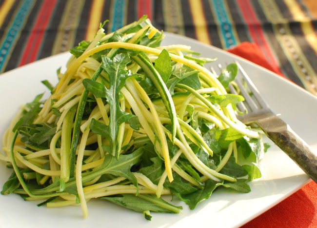 Post image for Zucchini and Arugula Salad with Lemon-Anchovy Dressing