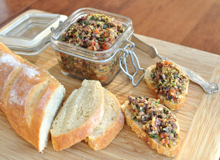Post image for Three Olive Tapenade Plus How to Roast a Pepper
