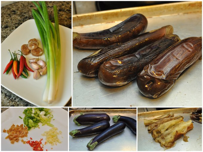 Cambodian roasted eggplant and pork plus a giveaway former chef 1 heat oven to 400 degrees coat the eggplants in the oil and put on a baking sheet roast in the oven for about 30 minutes or until the outside is forumfinder Choice Image