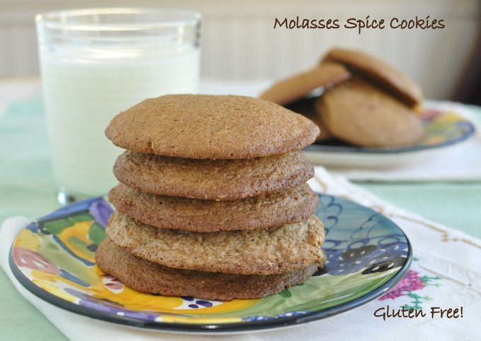Post image for Molasses Spice Cookies (Gluten Free)