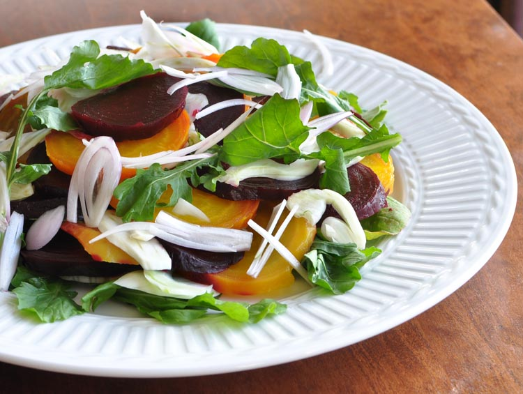 Post image for Beet, Fennel and Arugula Salad