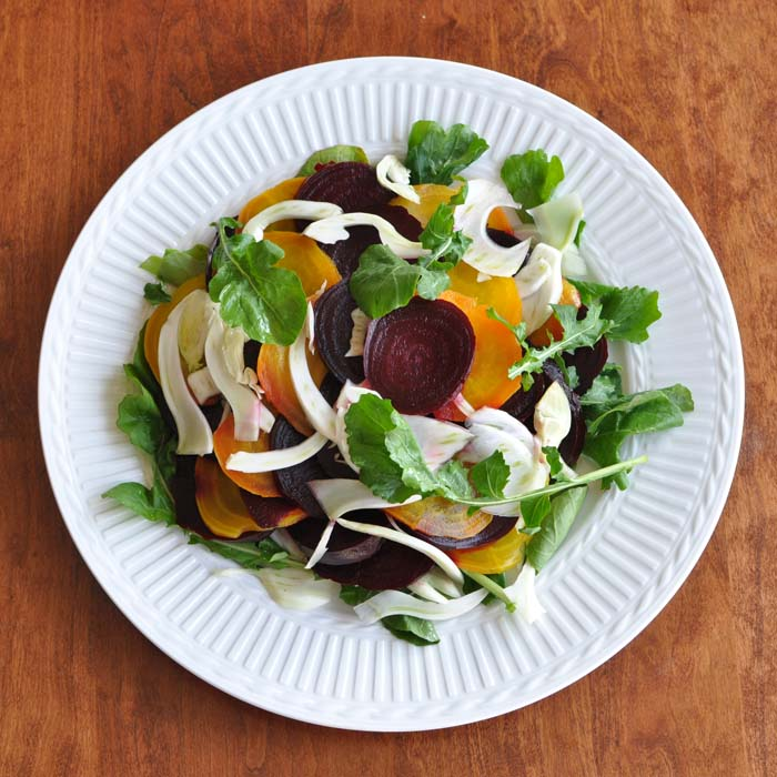 Beet, Fennel and Arugula Salad