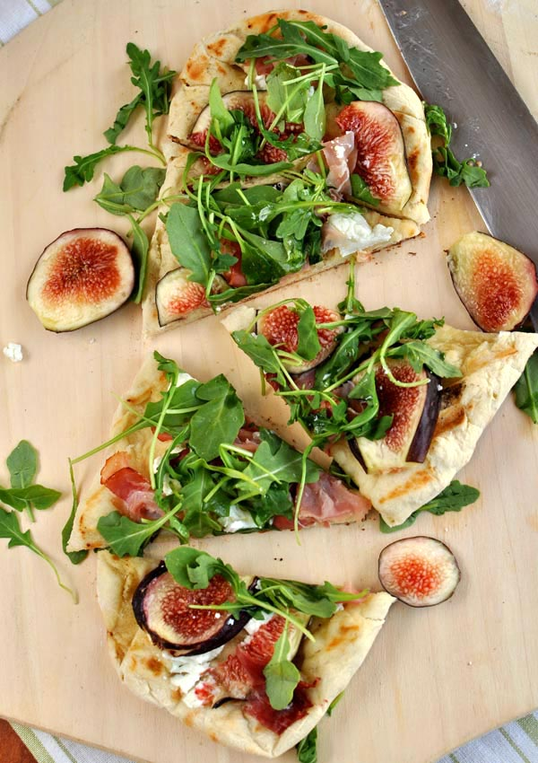 Grilled Flat Bread with Figs