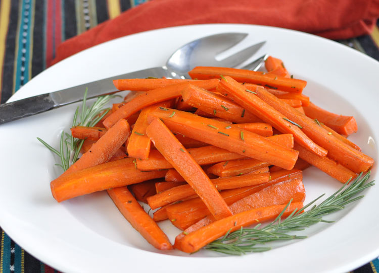 Post image for Apple Cider Roasted Carrots with Rosemary and Nutmeg