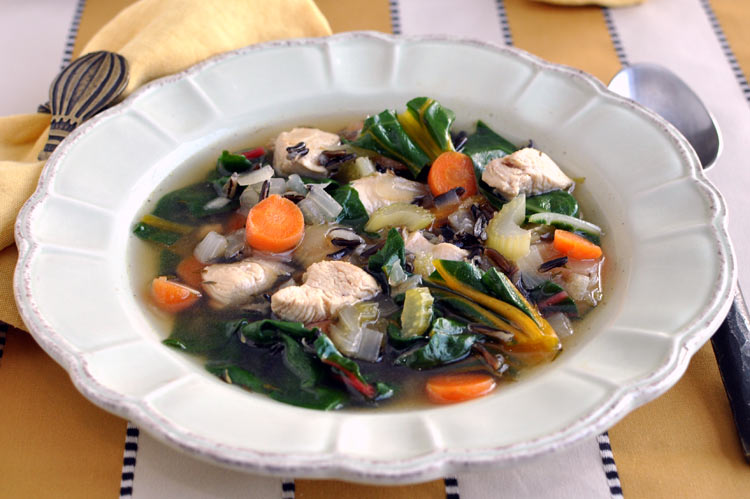 Post image for Chicken Soup with Wild Rice and Greens