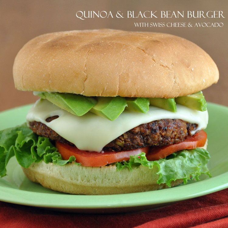 "Post image for Quinoa and Black Bean Burger and a ""Grain Mains"" Book Giveaway"