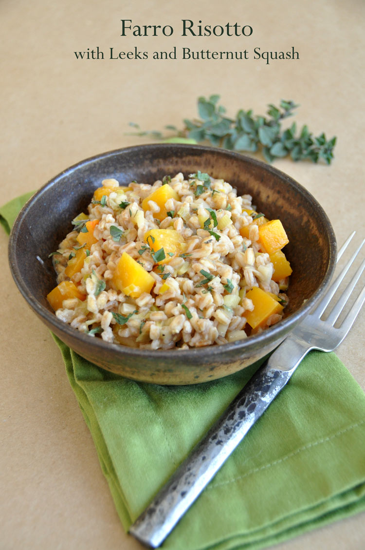 Post image for Farro Risotto with Leeks and Butternut Squash