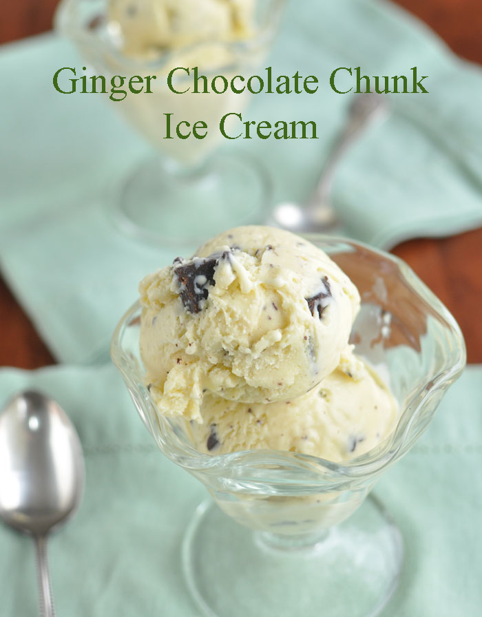 Post image for Ginger Chocolate Chunk Ice Cream