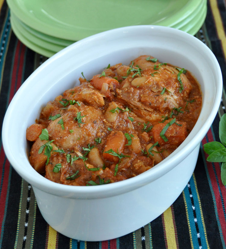 Post image for Slow Cooked Chicken with Cannellini Beans, Fennel and Tomato