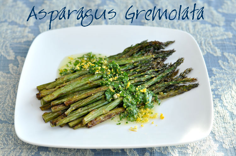 Simple home gardening - Roasted Asparagus Gremolata Former Chef