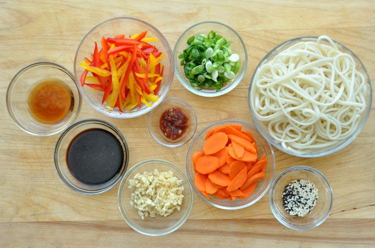 Garlic Sesame Udon Noodles with Fried Tofu — Former Chef