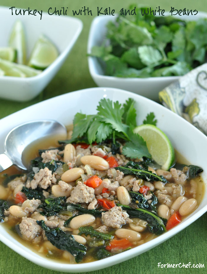 Turkey Chili with Kale and White Beans on formerchef.com