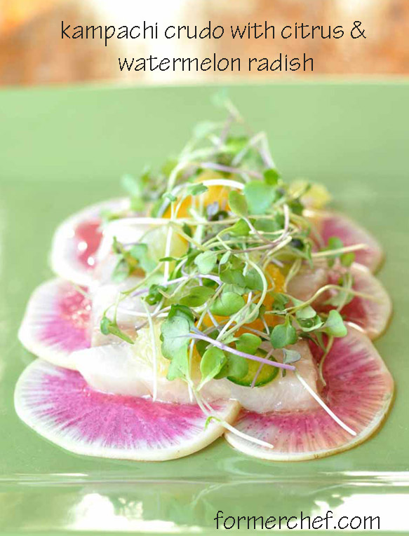 Post image for Kampachi Crudo with Citrus and Watermelon Radish