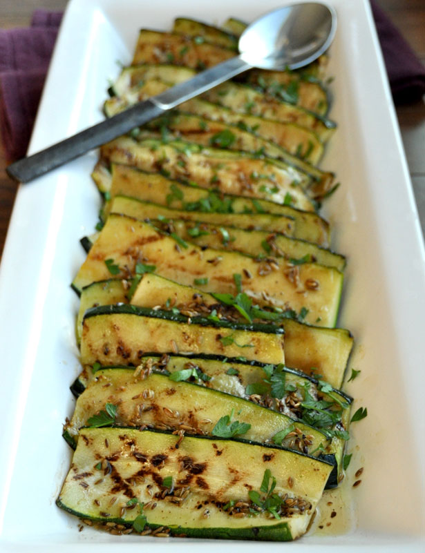 Zucchini with Toasted Fennel Seed Viniagrette on www.formerchef.com