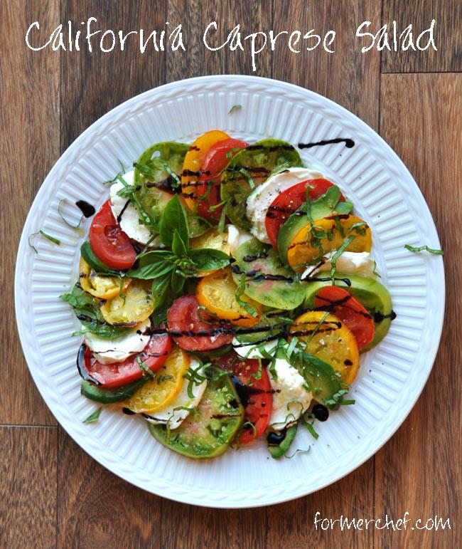 California Caprese-Tomatoes, Fresh Mozzarella, Basil and Avocado