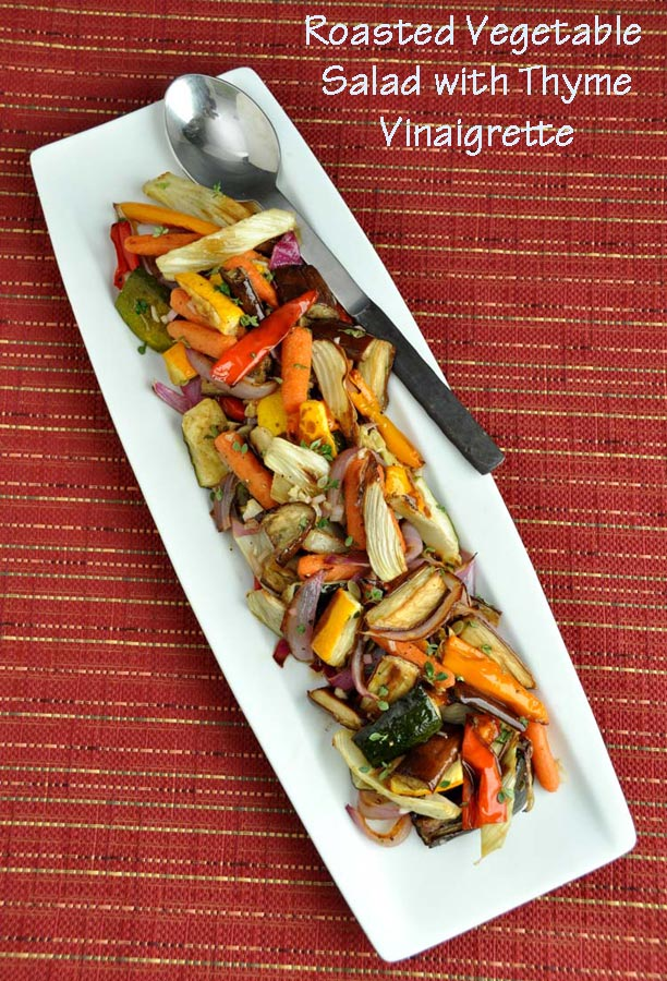 Post image for Roasted Vegetable Salad with Thyme Vinaigrette