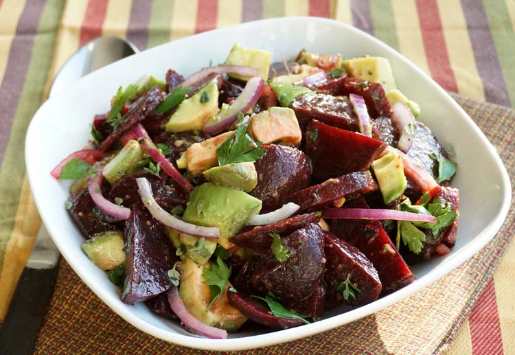 Beet Salad with Avocado and Grapefruit-Thyme Vinaigrette on FormerChef.com