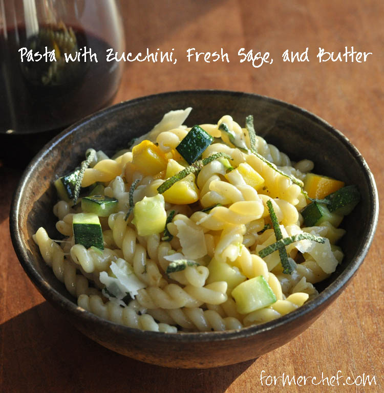 Post image for Pasta with Zucchini, Fresh Sage, and Butter