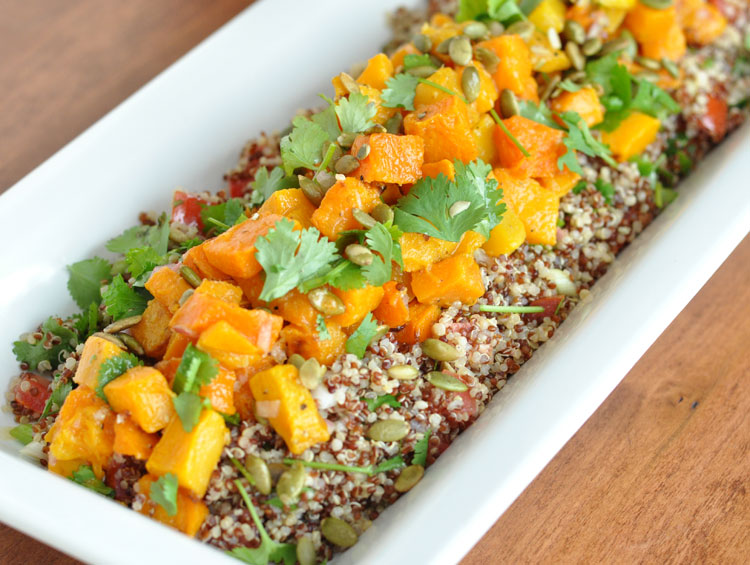 Post image for Roasted Butternut Squash and Quinoa