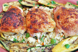 Thumbnail image for Roasted Chicken Thighs with Berbere Spice and Orange